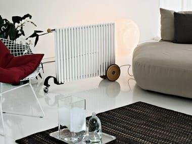 Mobile steel decorative radiator RIMORCHIETTO
