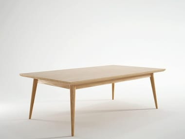 Rectangular wooden coffee table for living room VINTAGE | Rectangular coffee table