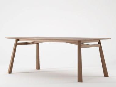 Tavolo da pranzo rettangolare in legno CARPENTER