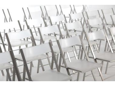 Folding polypropylene training chair POCKET CONFERENCE