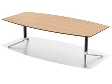 Tavolo da riunione modulare in legno TEMO | Tavolo da riunione modulare