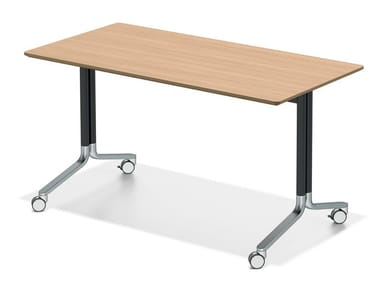 Folding meeting table with castors TEMO FLIPTOP