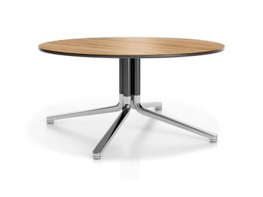 Round coffee table with 4-star base TEMO III-IV | Coffee table