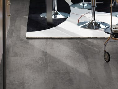 Laminate flooring with stone effect CONCRETE MEDIUM GREY