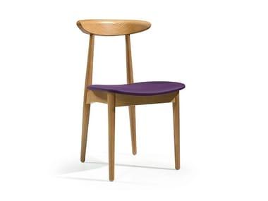 Cadeira estofada de madeira MYLES | Cadeira estofada