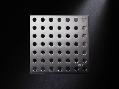 Scarico per doccia in acciaio satinato GRIGLIA TONDO   Scarico per doccia in acciaio satinato
