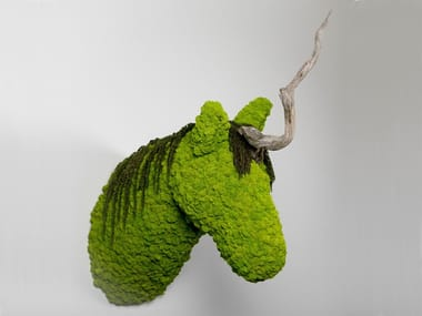 Wall decor item made with mosses and lichens UNI.CORN