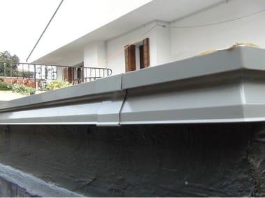 Profilo e scossalina per impermeabilizzazione in alluminio AQUASCUD LINE