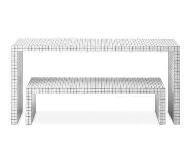 Rectangular honeycomb console table QUADERNA