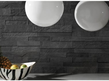 Porcelain stoneware wall tiles with stone effect STOCKHOLM