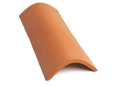 Circular clay ridge tile Ridge tile