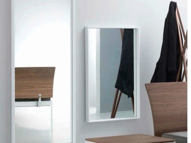 Rectangular wall-mounted framed mirror PLANE FOR ME