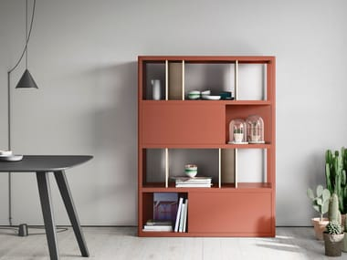 Freestanding solid wood bookcase KAI | Bookcase
