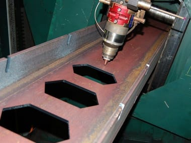 Laser and plasma cutting laser cutting and drilling for beams