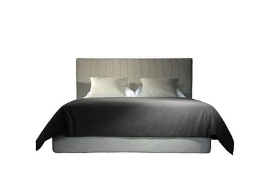 Double bed with high headboard RIBBED