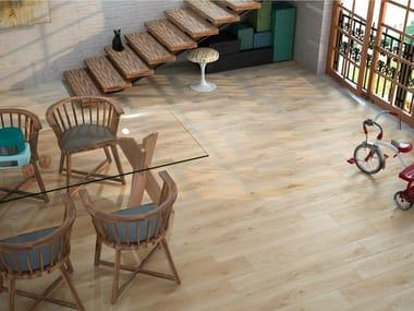 Porcelain stoneware flooring with wood effect OREGON