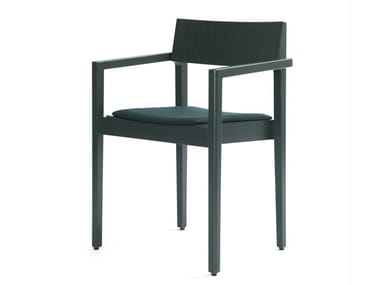 Wooden chair with armrests INTRO B | Chair