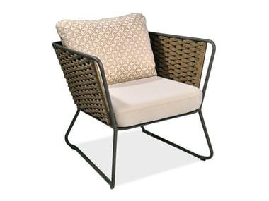 Garden armchair with armrests PORTOFINO | Garden armchair
