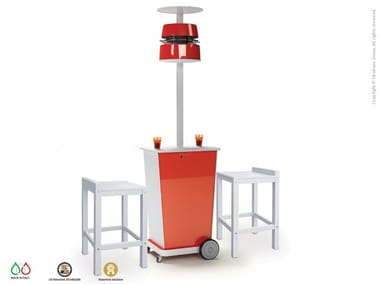 Floor standing misting system with table ATMOSFERA