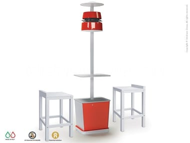 Floor standing misting system with table ALBA