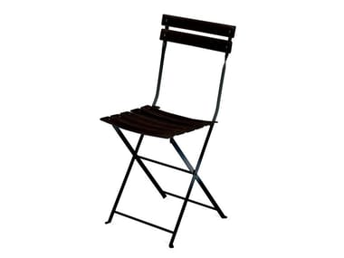 Folding stainless steel chair CELESTINA