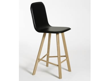 Leather chair with footrest TRIA | Chair with footrest