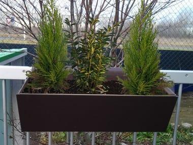 Low metal planter ALUFLOS