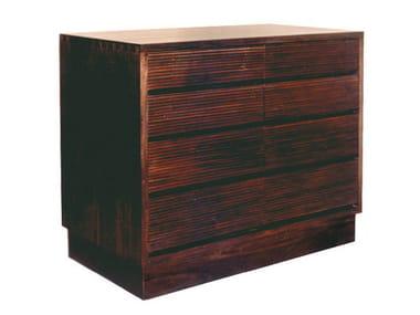 Cassettiera in legno GROOVE | Cassettiera in legno