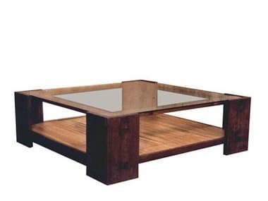 NEO PRIMITIVE | Tavolino in legno e vetro By WARISAN