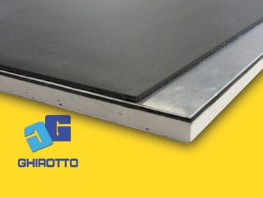 Sound insulation and sound absorbing felt with lead-laminate PIOMBOPAN GIPS