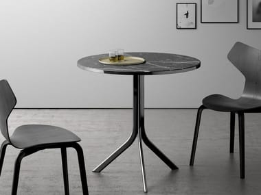 Folding round table BISTRO | Marble table