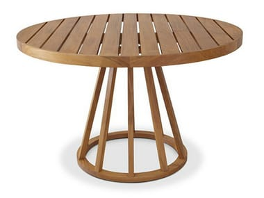 Round teak garden table BELLA | Round table