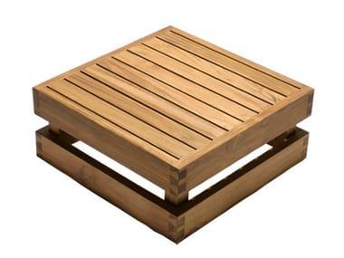 Tavolino basso da giardino in legno NIKI | Tavolino basso