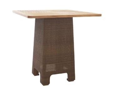 Tavolo alto da giardino quadrato in rattan TEABU | Tavolo alto