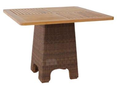 Tavolo da pranzo quadrato in rattan TEABU | Tavolo da pranzo