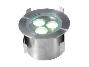 Segnapasso a LED a pavimento in acciaio inox AQUA 3