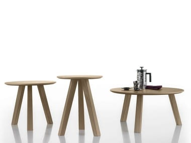 Round oak coffee table ESCAMP