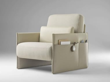 Upholstered fabric armchair TABAC | Armchair