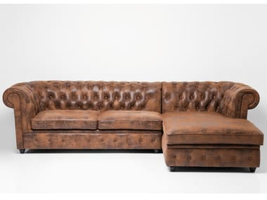 3 seater corner leather sofa OXFORD | Corner sofa