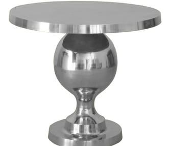 Mesa de apoio redonda de alumínio ROCKSTAR TABLE ALU