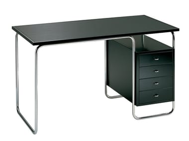 Stainless steel office desk with drawers COMACINA
