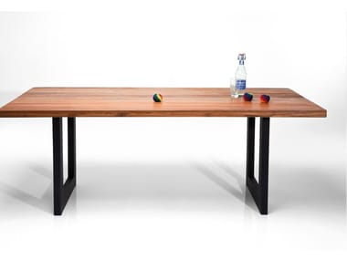 Rectangular steel and wood table FACTORY | Rectangular table
