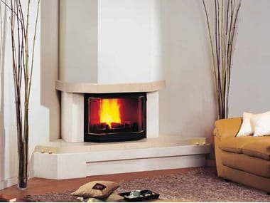 Wood-burning corner fireplace JOSÉPHINE II