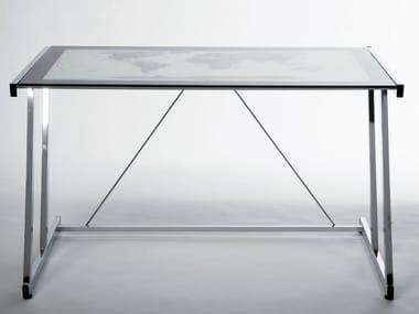 Scrivanie in acciaio e vetro archiproducts for Scrivanie in vetro e acciaio