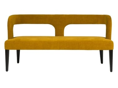 Upholstered bench with back PENELOPE