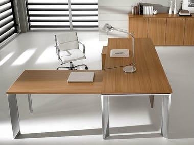 Office desks wood Diy Lshaped Steel And Wood Executive Desk Pratiko Lshaped Office Desk Cubicles Steel And Wood Office Desks Archiproducts