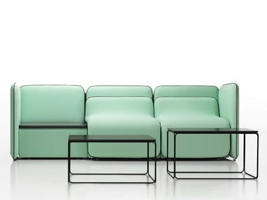 Modular fabric sofa BUNKER | Modular sofa