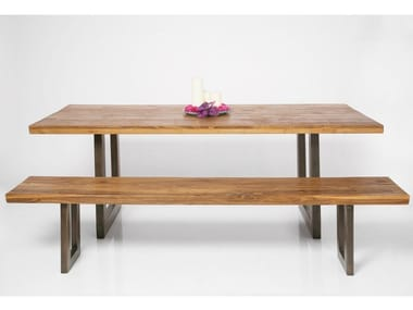 Rectangular steel and wood dining table FACTORY | Table