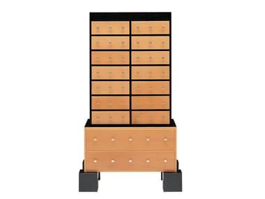 Wood veneer chest of drawers MOMBASA
