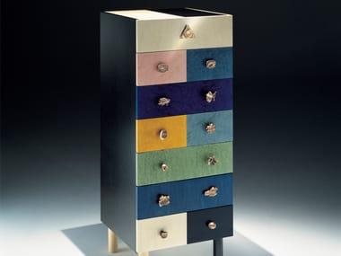 Wood veneer chest of drawers GENESIO